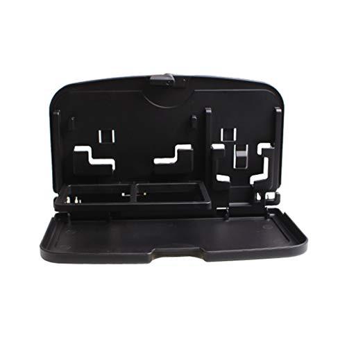 11 way bike Faltbare Auto tischplatte Auto verwenden Laptop Tisch multifunktions Auto kleinigkeiten unterstützung Auto esstisch Platte (Color : Black)