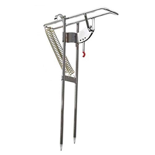 delstahl-Fischerei Rod Mount Stand Doppel-Fr¨¹hjahrs-Holder-Tool ()