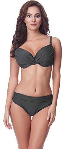 Merry Style Damen Bikini Set P62175M(Graphite, Cup 90 D/Unterteil 44) -