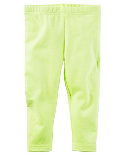 Carters Toddler / Little Girls Neon Yellow Capri Leggings (6) Girl Carters Legging