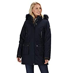Regatta Damen Safiyya Waterproof & Breathable Down-Touch Insulated Faux Fur Hooded Winter Jacket Jacken wasserdicht isoliert, Navy, XS (10)