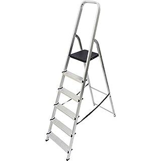 Abru 1700618 High Handrail Stepladder-6 Tread, Silver, One Size