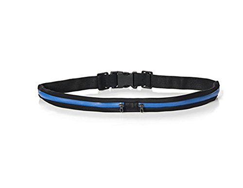 Doppel Schnalle-tasche (Hosaire Sport - Gürteltasche Sport Einstellbar mit Doppel Taschen Wasserdicht und Verstellbaren Gürtel für iPhone SE/5/6/6 Plus)