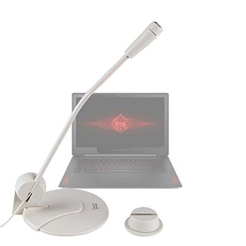 DURAGADGET Micrófono De Sobremesa Para Portátil Asus K540LA XX659T / Chuwi LapBook 12.3 / HP 14 bs036ng , HP 15 bs030n , HP OMEN 15-ce002ns , HP Pavillion 15 cc508ns - Alta Calidad - Blanco - ¡Ideal Para Videoconferencias!