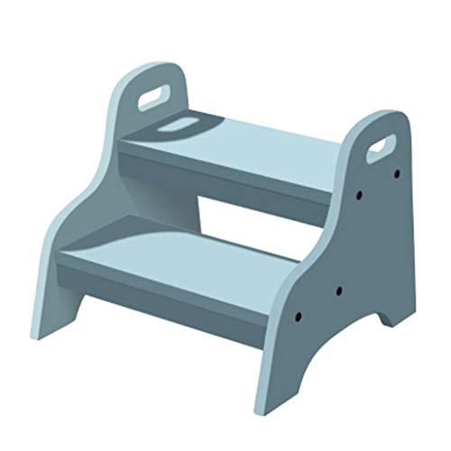 Preisvergleich Produktbild AA-stair bench LTDE Trittleiter Trittleiter,  Badezimmer für Kinder,  Hocker aus massivem Holz,  Badezimmer,  Waschbecken,  Anti-Rutsch-Fußbank (Farbe: B)