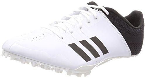 adidas Adizero Finesse, Scarpe da Atletica Leggera Unisex - Adulto, Nero (FtwrWhite/CoreBlack/FtwrWhite), 45 1/3 EU