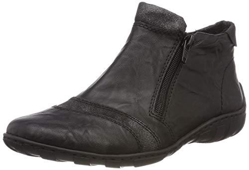 Rieker M3780, Botines para Mujer, Negro Schwarz-Silber 00, 40 EU