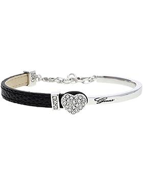 Guess Damen Armband Leder Silber/Schwarz Color Chic UBS91307