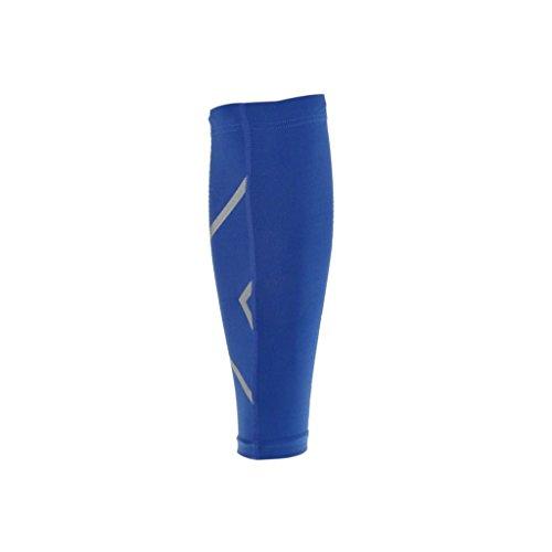 ompression Stulpen Sleeves Kalb Shin Trägerhülle Sport Klammer Hülse - Blau, L ()