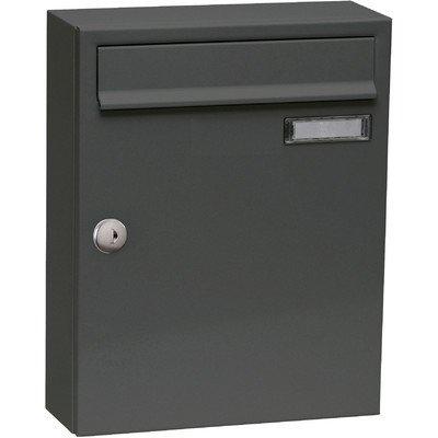 Max Knobloch Briefkasten Fargo I anthrazit-grau (RAL 7016) 8 Liter Wandbriefkasten