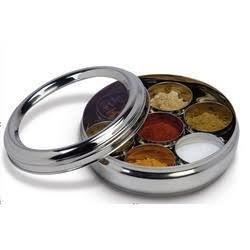 G&D Spice Box aus Edelstahl, Gewürzdose, Masala Dabba, Gewürzdose mit transparentem Deckel für die Küche, Muttertag Geschenk