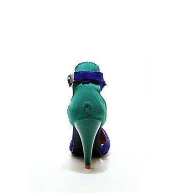 WSX&PLM Da donna-Tacchi-Ufficio e lavoro / Formale / Casual / Serata e festa-Others-A stiletto-Felpato-Nero / Blu blue
