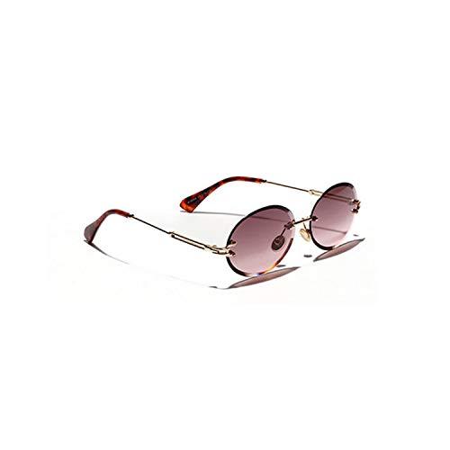 Klassische Sportsonnenbrille, Rimless Oval Women Sunglasses NEW Men Gradient Transparent Sun Glasses Retro Eyeglasses Fashion Trendy 80 C1