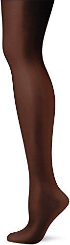 Pretty Polly Damen Nylons 10d Gloss Tights Strumpfhose, 10 DEN, Schwarz, Medium (3erPack) -