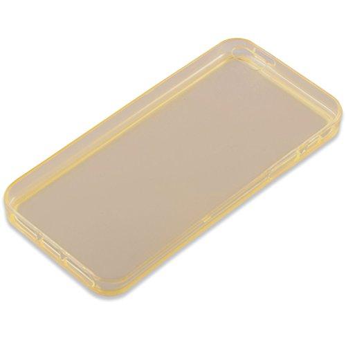 Cadorabo - TPU Ultra Slim Silikon Hülle für >                Apple iPhone 5 / 5S / SE                < - Case Cover Schutz-Hülle Bumper in SCHWARZ TRANSPARENT-GOLD