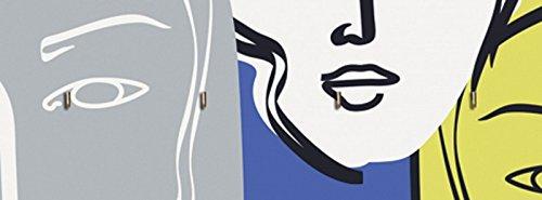 artland-tavola-porta-chiavi-con-motivo-stampata-su-legno-con-4-ganci-jule-faces-gruppi-di-persone-e-
