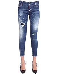 687d7930c1afa Dsquared2 Femme S75LB0034S30342470 Bleu Coton Jeans