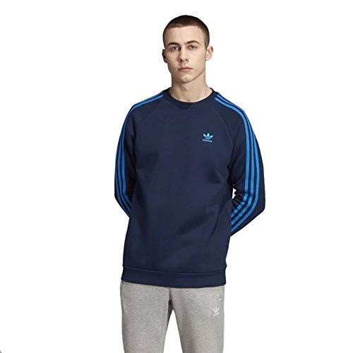 adidas Herren 3-Stripes Crew Sweatshirt, Collegiate Navy/Bluebird, XL -