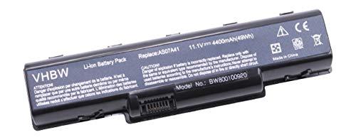 Variation vhbw Li-Ion Batterie 4400 mAh (11.1 V) Convient pour Acer Aspire 2930, 2930 G, 4230, 4310, 4315, 4520, 4530, 4710, 4720, 4730, 4736, 4920, 4930 G Wi-Fi