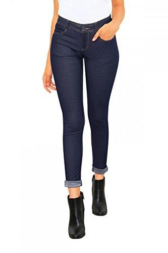 Damen Jeans Hose Skinny Röhre (614), Grösse:M / 38, Farbe:Denim Dunkel Blau (Dunkle Jeans-hose)