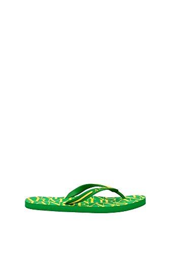 Infradito Armani Jeans Uomo Gomma Verde e Giallo V656152V6 Verde 42EU