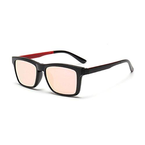 WKAIJC Trends Mode Polarisierende Persönlichkeit Bequem Anspruchsvoll Kreativ Clip-Art Sonnenbrillen,C