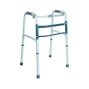 ObboMed MW-3300 Gehgestell, transportabel, leichtgewichtig, faltbar und höhenverstellbar, mit konturiertem Soft-Griff und rutschfester Gummi-Spitze zur Anwendung für Senioren