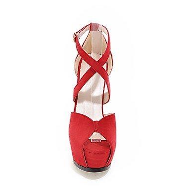 Enochx Donna Sandali Estate Autunno scarpe Club vello Office & Carriera Party & abito da sera Stiletto Heel fibbia beige