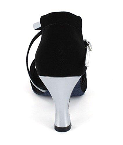 TDA - Ballroom donna 7.5cm Silver Black