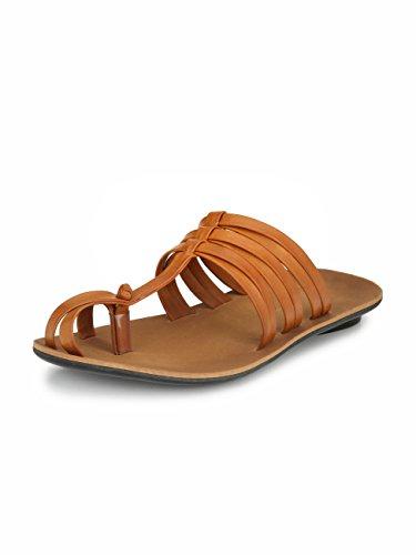 Sir Corbett Men's Synthetic Casual Daily Wear Slippers (10, Tan)