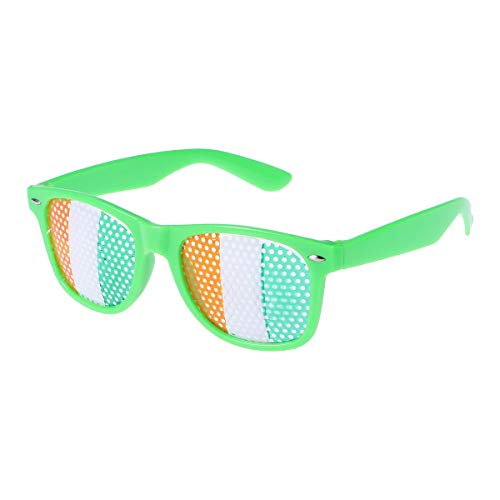 (BESTOYARD Partybrille Lustige Brille Irish Flagge Muster St.Patrick's Day Brille Irish Day Party Zubehör (Grün))