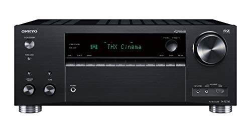 Onkyo TX-RZ730(B) 9.2 Kanal AV Receiver (THX Kinoklang, 175 W/Kanal, Multiroom, Dolby/DTS:X, WLAN, Bluetooth, Streaming, Musik Apps, Spotify, Tidal, Deezer, Internetradio), Schwarz - Netzwerk Av-receiver