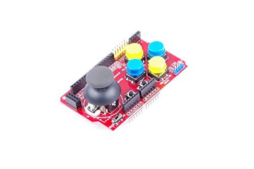 Funduino Gamepad Joystick Shield V1 Expansion Board Red Arduino 8800 Lcd