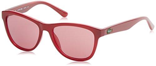 Lacoste wayfarer eye, occhiali da sole donna, rosso, 50