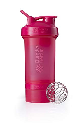k Shaker inkl. 2 Containern 150ml & 100ml +1 Pillenfach,650ml,Pink ()