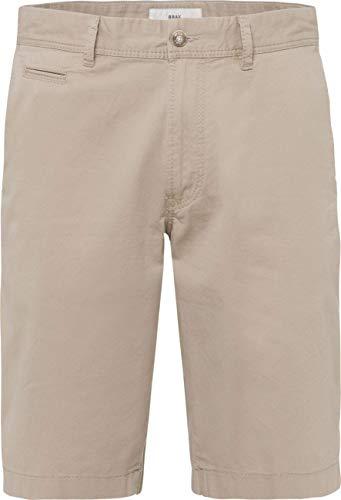 Brax Herren Bari Bermuda Baumwolle Uni Shorts, Beige 56, W36/L34(Herstellergröße: 52) -