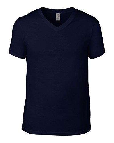 anvil Herren Fashion Basic V-Neck Tee / 982 Navy