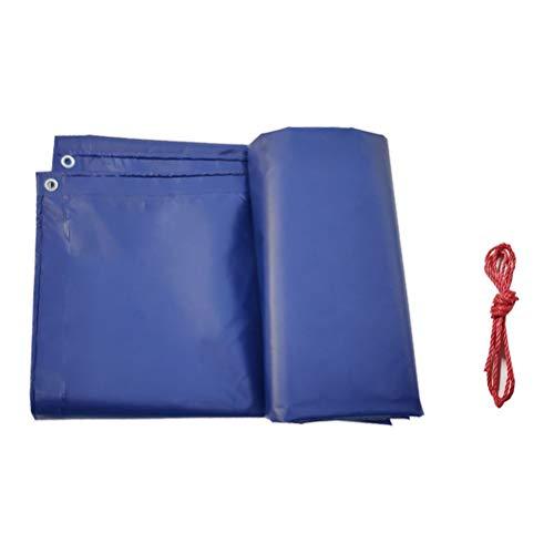 ZHANGGUOHUA Regenschutzplane Schwere Regenschutz wasserdichte Leinwand Verwendung im Freien Verdicken Regenschutz Sonnenschutz (Farbe : Blau, größe : 2x3m)