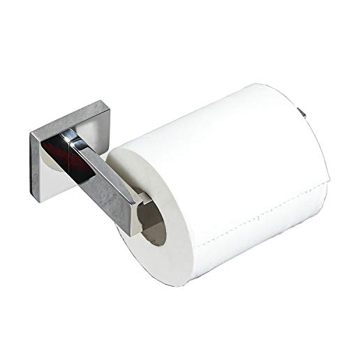 Portarotolo acciaio inox wc porta carta igienica per il bagno, cromato lucido