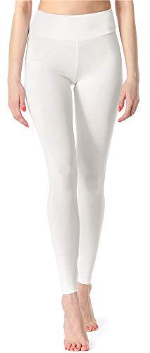 Merry Style Damen Lange Leggings Fitnesshose MS10-221 (Weiß, S (Herstellergröße: 36))