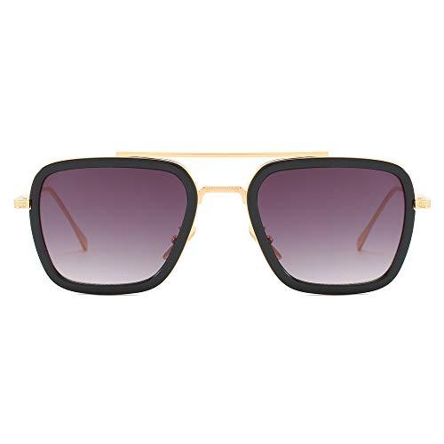 HJL Sonnenbrille unglasses Metall Steampunk Unisex polarisierte Sonnenbrille, Klassische Rossi Beschichtung Retro UV400 Protection Design Sonnenbrille,C