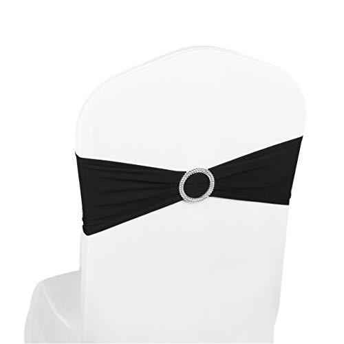 The Chair Cover Company Élastique Spandex Housses De Chaise Rubans  élastiques Avec Boucle Nœuds Pour Mariage