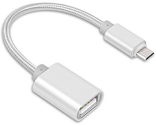 Lucklystar® usb 2.0 a female to micro b male adapter cable micro usb host mode otg cable per schede di memoria flash drive e altri dispositivi