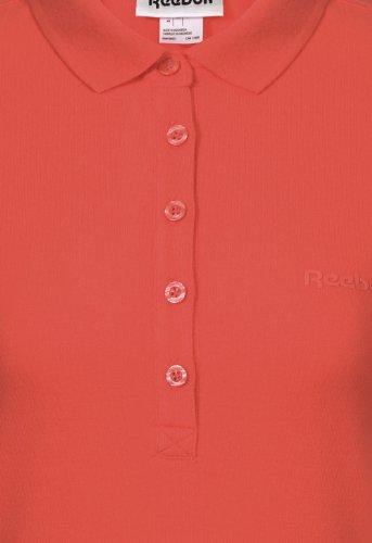 Reebok Femme NC S&S Polo Shirt, Corail Pinks