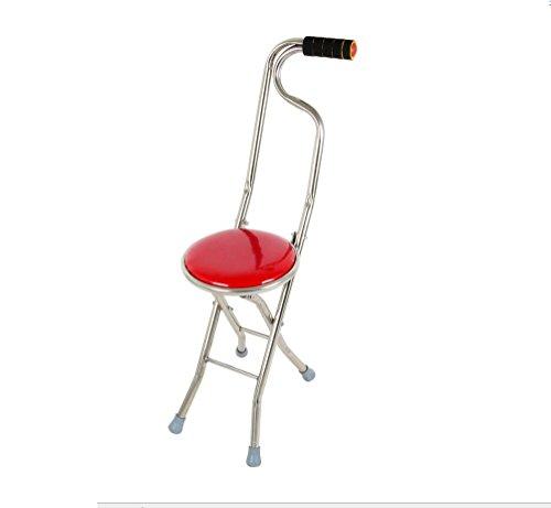 ALJY Bton De Marche Elderly Canne Chaise Pliante Jambes Sige