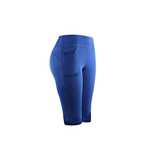 Xuthuly Damenmode Stretch Yoga Leggings Lässig Fest Bequem Fitness Laufen Gym Sport Taschen Aktiv Hosen