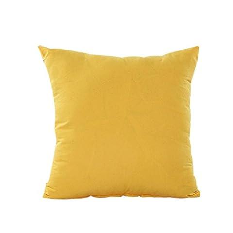 Euone Home Decor Taie d'oreiller en coton et lin Housse de coussin Taie d'oreiller de couleur unie, Coton & lin, E, 45cm *45cm