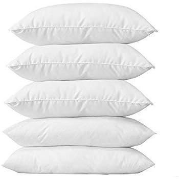 """CLASORA Reliance Fibre Filled 5 Piece Pillow Set - 16"""" x 24"""", Antique White"""
