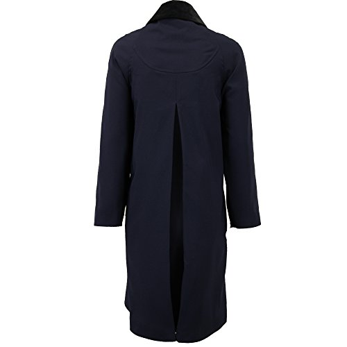 Damen Frühling/Sommer Übergröße Leicht Mantel Damen Jacke überdimensional übergröße Schaukel-mantel Marineblau - 8026