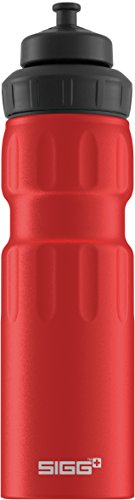 Sigg WMB Sports Red Touch, Sport Trinkflasche, 0.75 L, Aluminium, BPA Frei, Rot